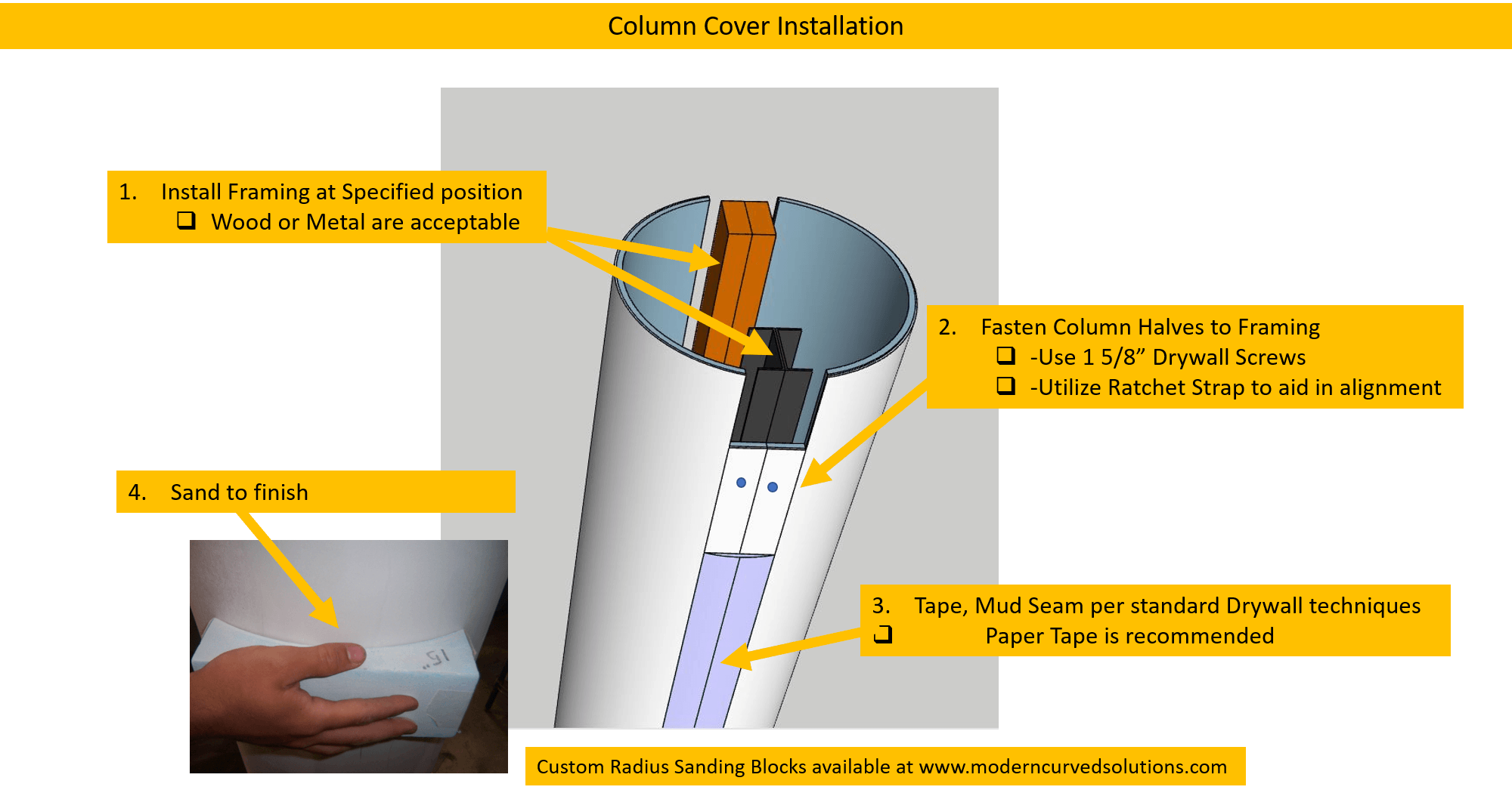 How to Install and Finish Column Wraps